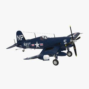 3d navy fighter f4u 5nl