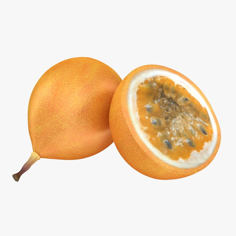 realistic passion fruit yellow 3d 3ds