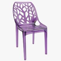 tree plastic transparent chair 3d max