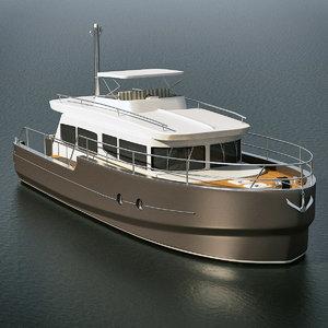 motor yacht aquanaut andante obj