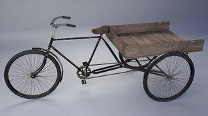 3d model loading cycle rickshaw