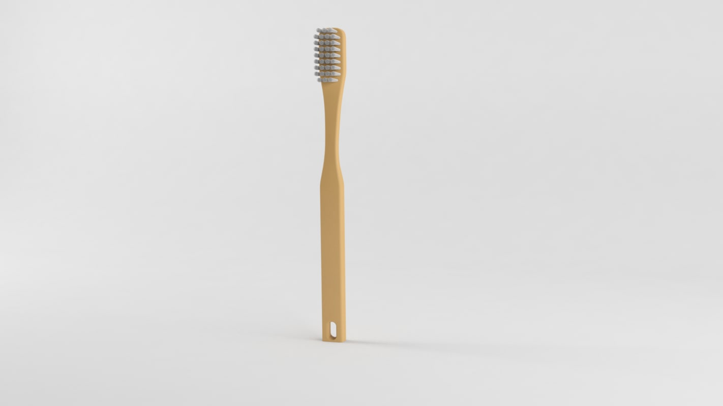 3d model basic toothbrush