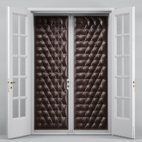 Double Tufted Glass Doors