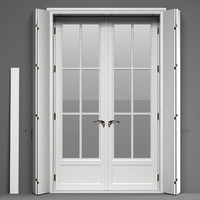 Double Glass Door with shutters