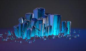 3d crystal pack model