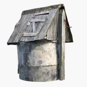 3d model medieval old village