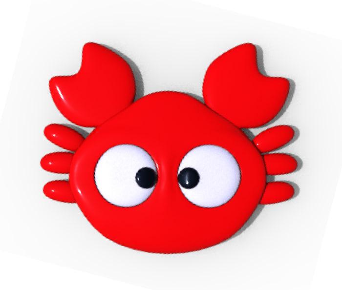 3d little crab model
