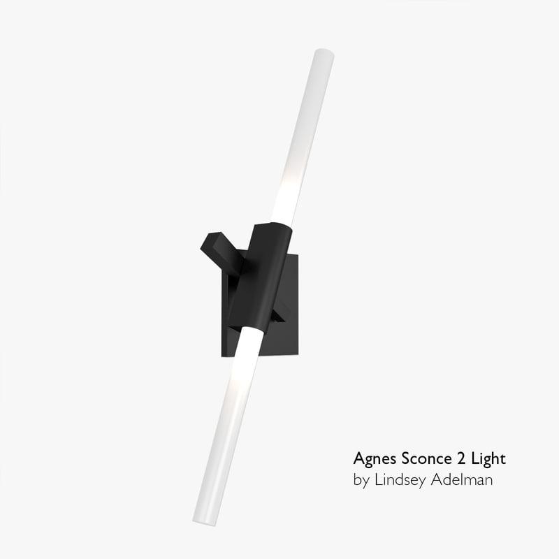 3d agnes sconce - 2 model