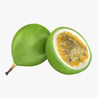 3d model realistic passion fruit green