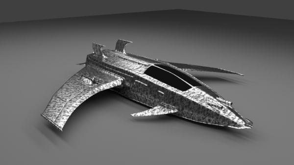 interceptor mark 1 space fighter 3d model