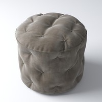 3d boston tufted pouf