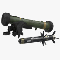 3d anti tank missile fgm-148 model