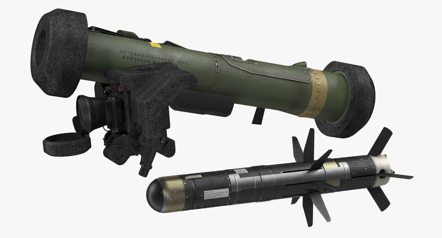 3d anti tank missile fgm-148 model