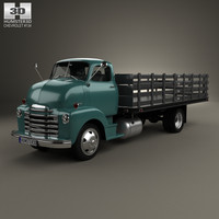 chevrolet coe flatbed 3d model