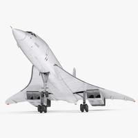 Concorde Supersonic Passenger Jet Airliner Generic