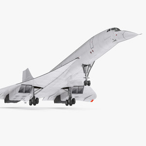 concorde supersonic passenger jet 3d model