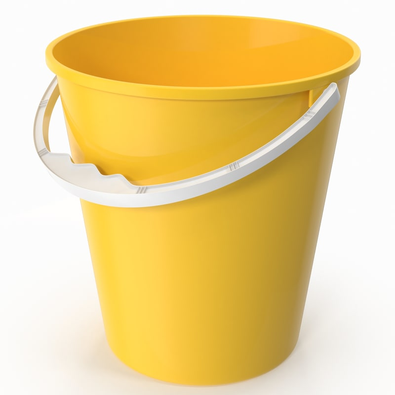 3d model realistic plastic bucket
