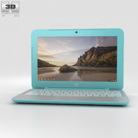 hp g3 chromebook 3d model