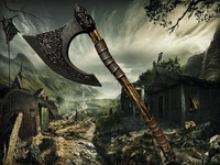 3d model viking axe