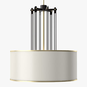 3d model fasten chandelier light