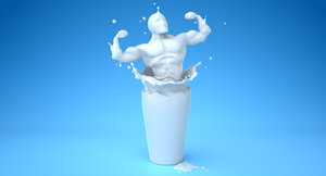 3d milk splash athlete