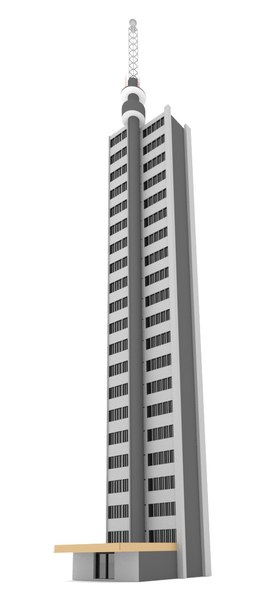 3d model of blender tall apartment