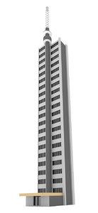 3d model of blender tall apartment