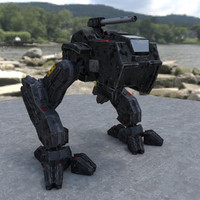 low-poly mech animations 3d model