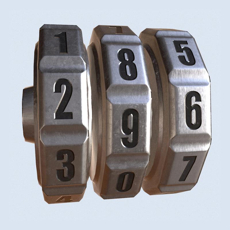 3d model wheel numbers realtime
