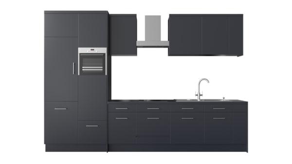 fbx photorealistic modern kitchen furniture