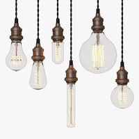 3d model edison light bulb