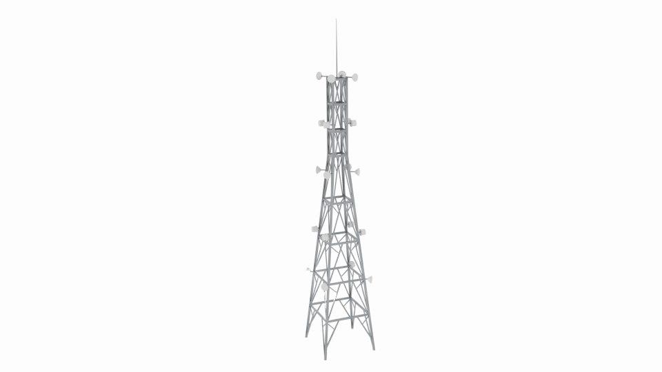 radio tower x 3d fbx