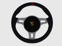 3d model porsche 911 rs steering wheel