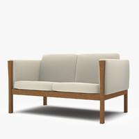 carl hansen sofa 3d model