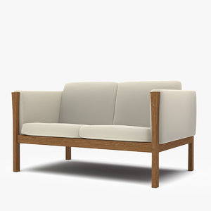carl hansen sofa 3d model
