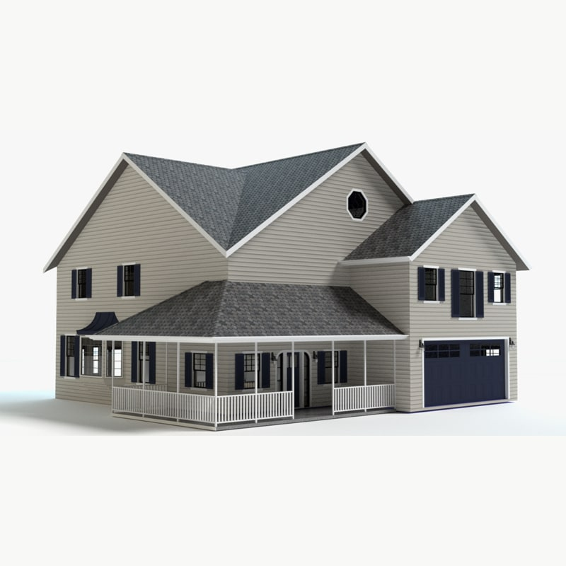 country farm house 3d model