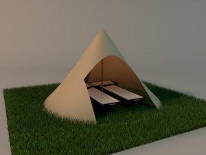 tent 3d c4d
