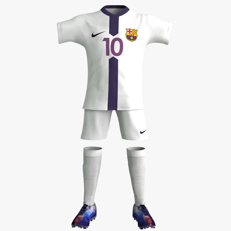 3d model soccer equipment clothes