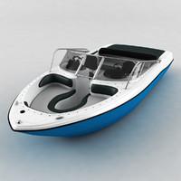 motor boat 3d obj