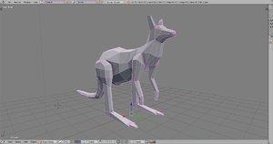 kangaroo paper 3d model