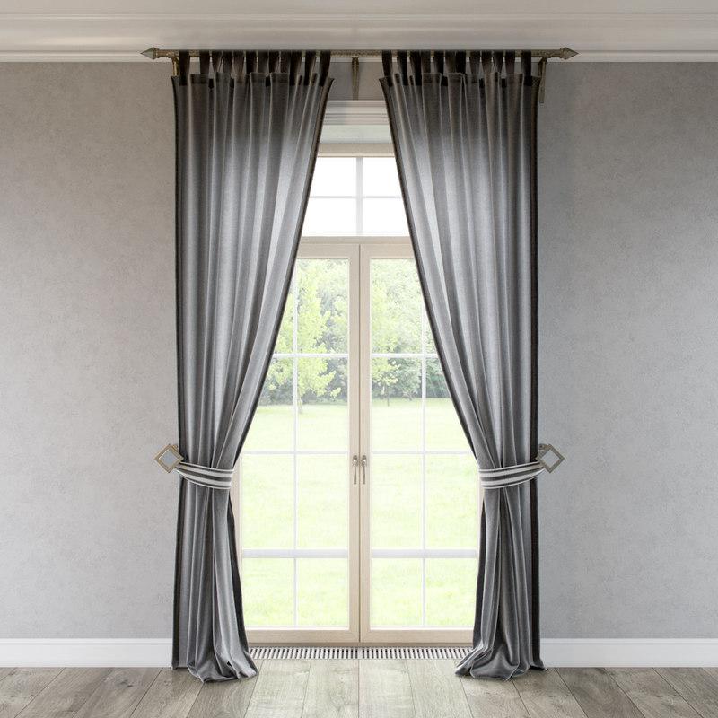 curtains 3d model