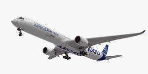 airbus a350-1000 xwb plane 3d model