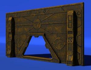sci-fi wall 3d model