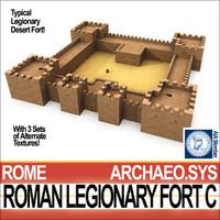 3d model roman legionary fort c