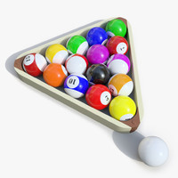 x realistic billiards ball 01