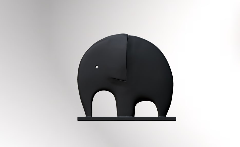 3d elephant 3dp animation studio