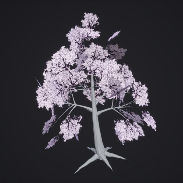 tree white 3d model
