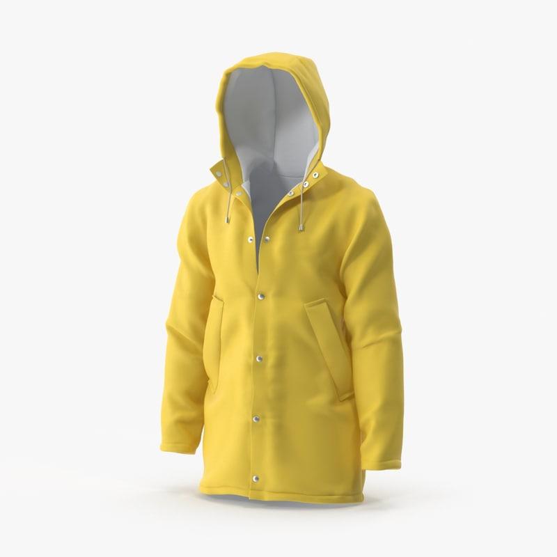 rain coat 01 3d max