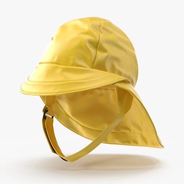 rain hat worn max