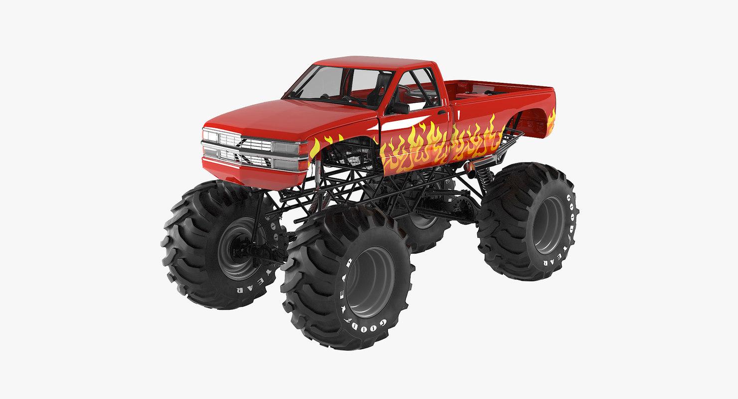 monster truck obj